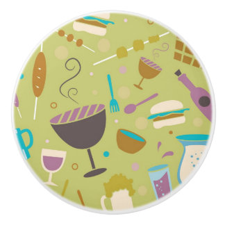 Barbecue Pattern Ceramic Knob