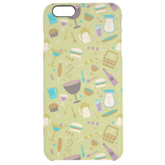 Barbecue Pattern Clear iPhone 6 Plus Case