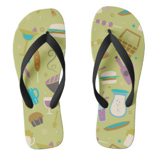 Barbecue Pattern Flip Flops