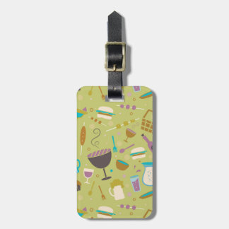 Barbecue Pattern Luggage Tag