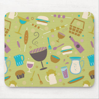 Barbecue Pattern Mousepad