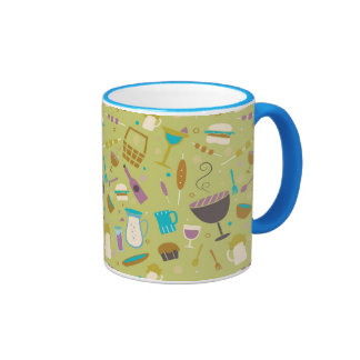 Barbecue Pattern Coffee Mugs