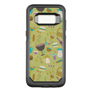 Barbecue Pattern OtterBox Commuter Samsung Galaxy S8 Case