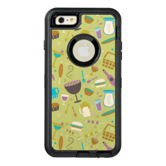 Barbecue Pattern OtterBox Defender iPhone Case