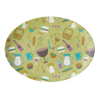 Barbecue Pattern Porcelain Serving Platter