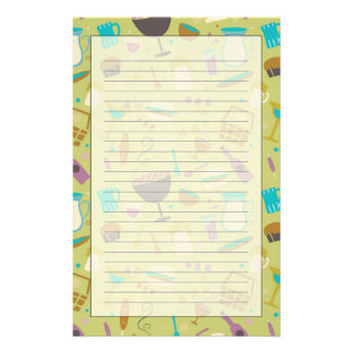 Barbecue Pattern Stationery