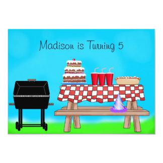 Barbecue Picnic Birthday Party 13 Cm X 18 Cm Invitation Card
