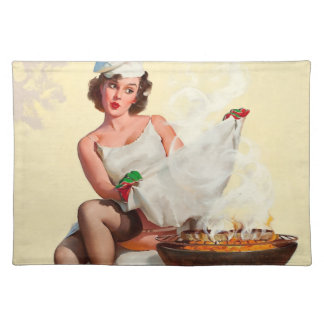 Barbecue Pin-Up Girl Placemat