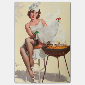 Barbecue Pin-Up Girl Post-it® Notes