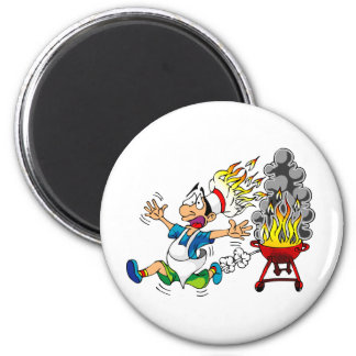 Barbecue pit master grill bbq smoker fridge magnet