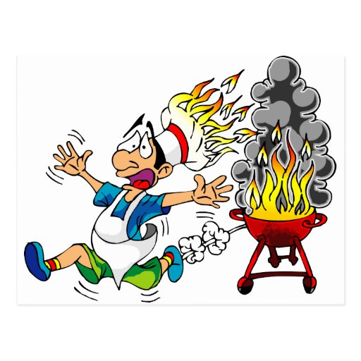 Barbecue pit master grill bbq smoker postcard