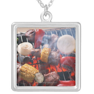 Barbecue Silver Plated Necklace