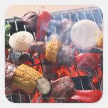 Barbecue Square Sticker