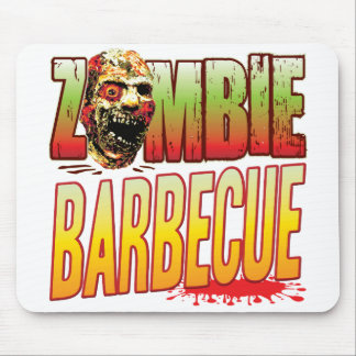 Barbecue Zombie Head Mouse Mat