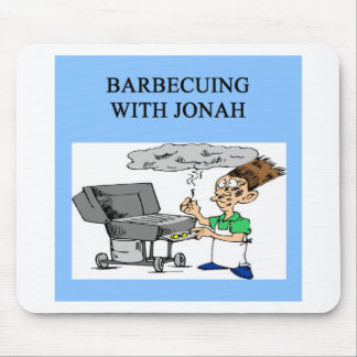 barbecueing with jonah mouse mat