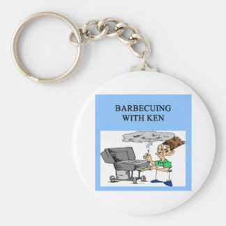 barbecueing with ken keychains