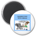 barbecuing with gregg 6 cm round magnet