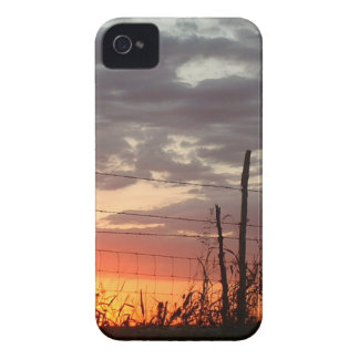 Barbed Fench in the Sunset iPhone 4 Case-Mate Cases