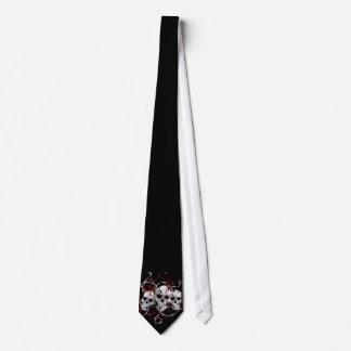 Barbed Skulls Tie