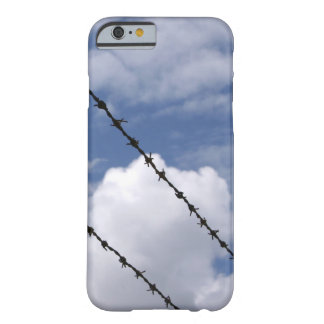 Barbed Wire Against Cloudy Sky Case