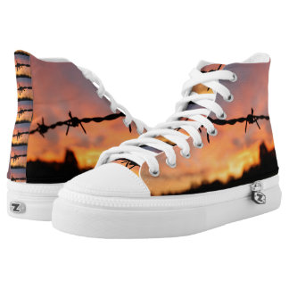 Barbed Wire Design Printed Shoes