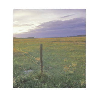 Barbed Wire Fenceline in northeastern Montana Notepad