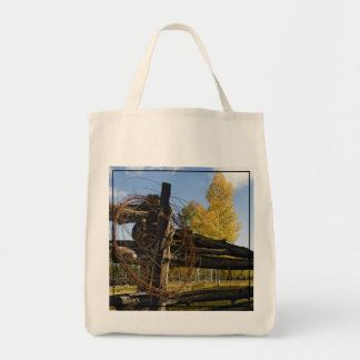 Barbed Wire Grocery Tote Bag