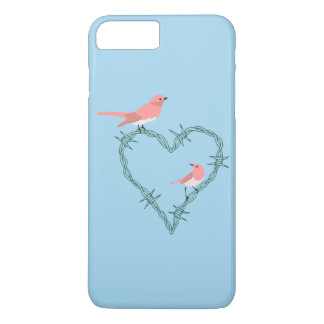 Barbed Wire Heart Birds iPhone 7 Plus Case
