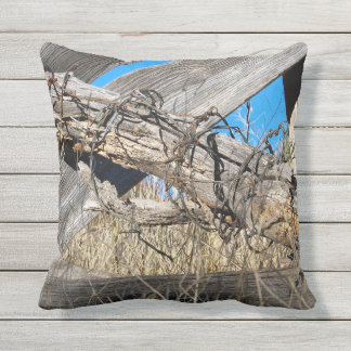 """Barbed Wire New Mexico 16x16"""" Outdoor Pillow"""
