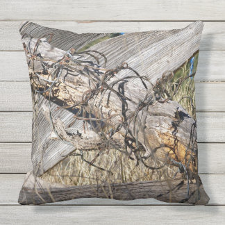"""Barbed Wire New Mexico 20x20"""" Outdoor Pillow"""
