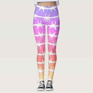 Barbed Wire Ombre Purple Pink Leggings