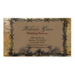 barbed wire western country wedding pack of standard business cards
