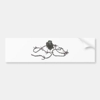BarbedWireGrenade103110 Bumper Sticker