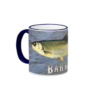 Barbel Freshwater Fish, With Water Background Ringer Mug