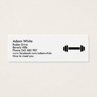 Barbell - Bodybuilding Mini Business Card