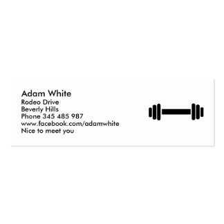 Barbell - Bodybuilding Pack Of Skinny Business Cards