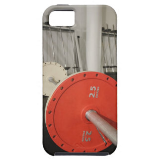 Barbell in gym case for the iPhone 5