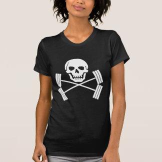 Barbell Jolly Roger White T-Shirt