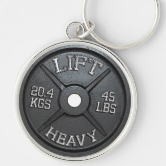 Barbell Plate - Lift Heavy Key Ring