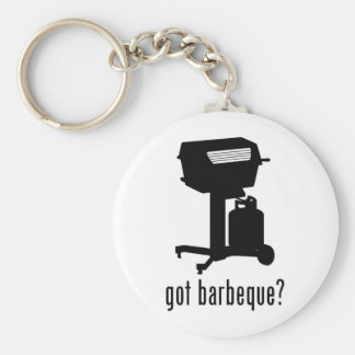 Barbeque Basic Round Button Key Ring