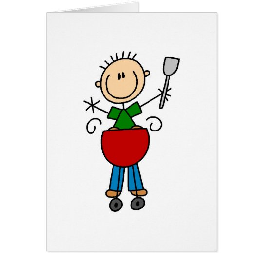 Barbeque Stick Figure Card