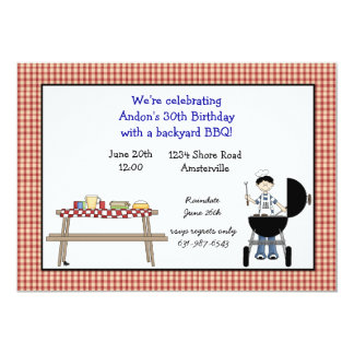 Barbeque Time Invitation