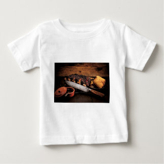 Barbequed beef ribs and corn. baby T-Shirt