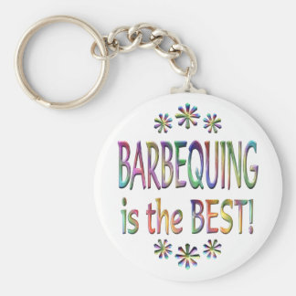Barbequing is the Best Keychain