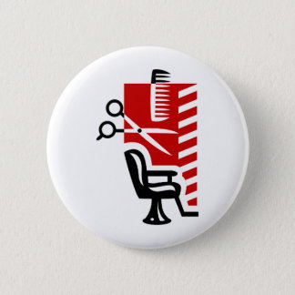 Barber 6 Cm Round Badge