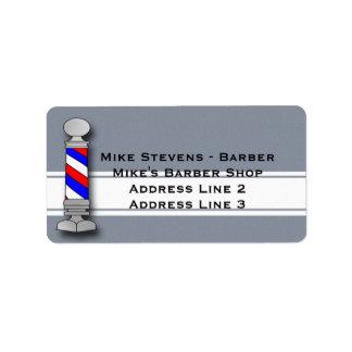 Barber, Barber Shop Address Labels