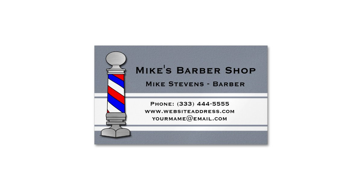 Barber, Barber Shop Business Card Magnet | Zazzle.co.uk