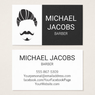 Barber Barbershop Hair Stylist Beard Business Card