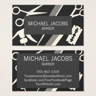 Barber Barbershop Hair Stylist Men Business Card