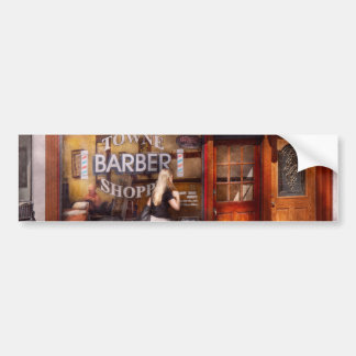 Barber - Barbershop - Time for a haircut Bumper Sticker